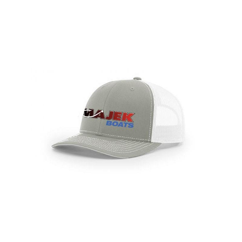 Twill Meshback Cap - Gray/White