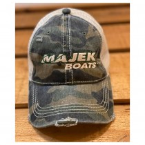 Majek Pony Tail Cap-Distressed Camo
