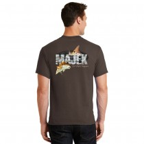 Majek Redfish Design T-Shirt - Brown