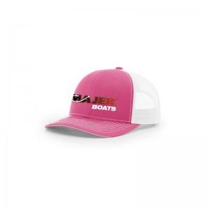 Twill Meshback Cap - Pink/White