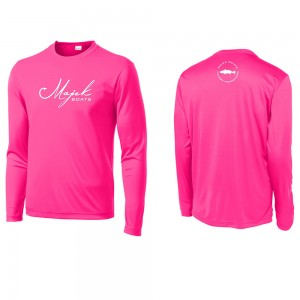 Script Logo Long Sleeve DriFit Tee - Hot Pink