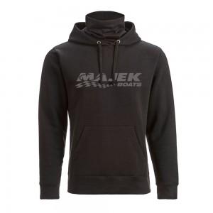 J America Gaiter Fleece Hooded Sweatshirt - Black