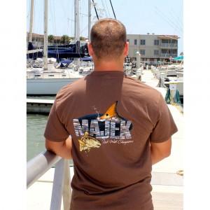 Majek Redfish Design T-Shirt - Brown