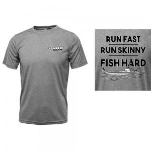 Drifit Run Fast, Run Skinny, Fish HARD Tee - Heather Grey
