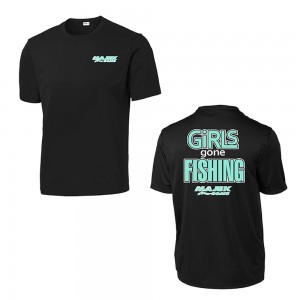 Girls Gone Fishing T-Shirt - Black
