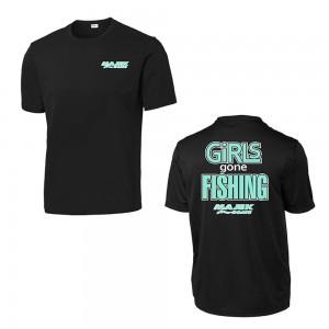 Girls Gone Fishing T-Shirt - Black