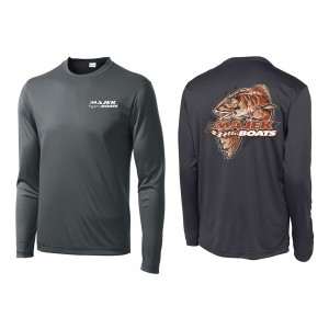Majek Boats Redfish Long Sleeve Drifit - Charcoal