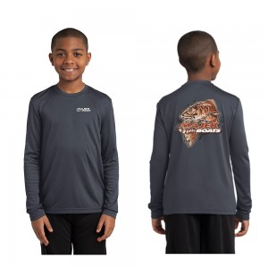Youth Redfish Long Sleeve Drifit - Charcoal
