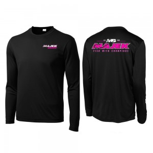 MB Fish w/Champions Long Sleeve Drifit - Black/Pink Print