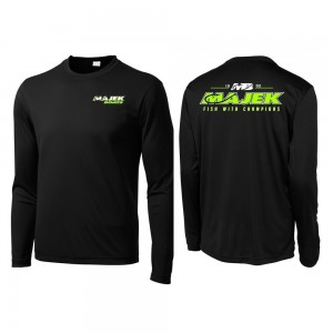 MB Fish w/Champions Long Sleeve Drifit - Black/Lime Print