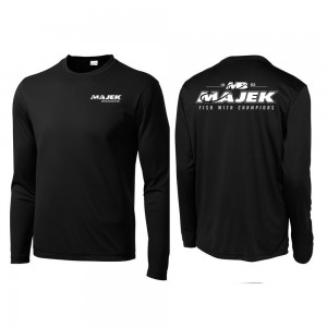 MB Fish w/Champions Long Sleeve Drifit - Black/White Print
